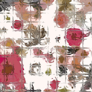 Pink Rose Garden abstract
