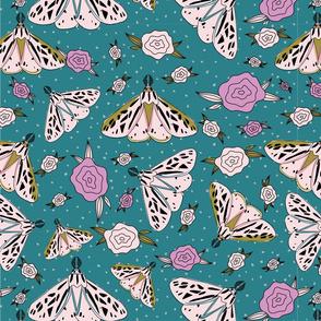 Vintage Moth Pattern