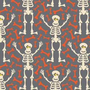 Happy Halloween Friendly Skeleton Bones UnBlink Studio Jackie Tahara
