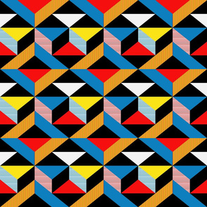 Mondrian Inspired Geometric Pattern