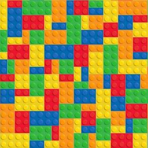 Retro Toy Blocks, Plastic Retro Toy Blocks