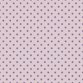 Lavender with Purple Dots