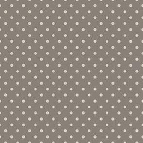 Light Taupe dots on Dark Taupe