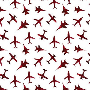 Cranberry airplanes • smaller scale • watercolor planes