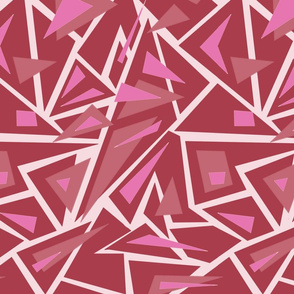 modern pink purple red shapes - triangles
