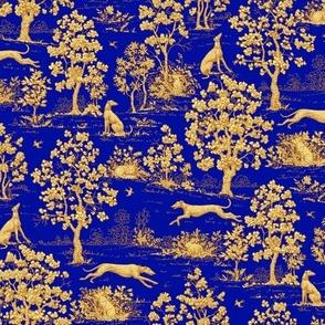Blue Harvest Greyhound Toile ©2011 by Jane Walker