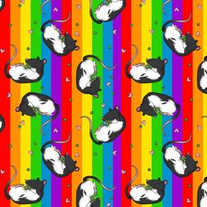 Rats & peas -rainbow colors