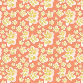 Perfect Plumeria- coral