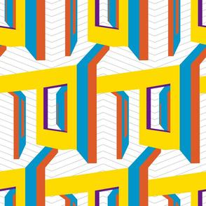 Urban Abode- Yellow- Jumbo Scale