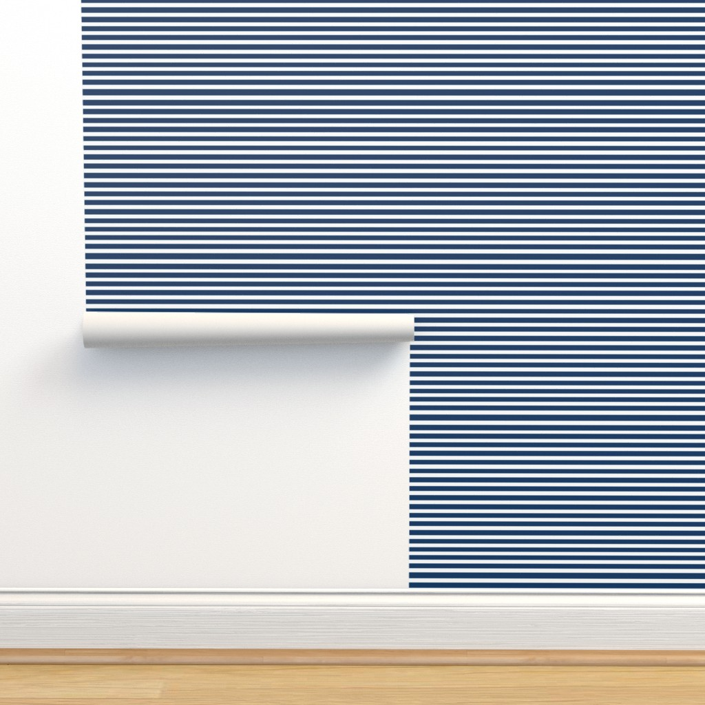 Isobar Durable Wallpaper featuring Navy Stripe // Seagull Surprise Coordinate by nanshizzle