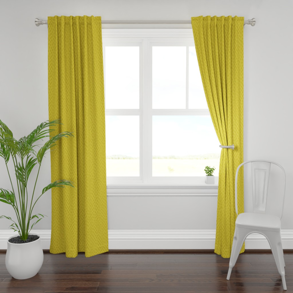 Plymouth Curtain Panel featuring Mustard Speckle // Seagull Surprise Coordinate by nanshizzle