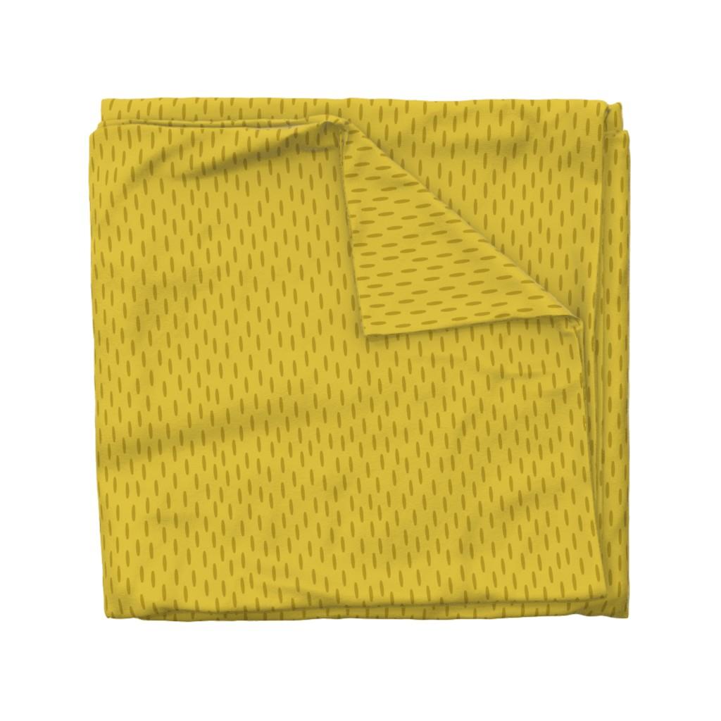Wyandotte Duvet Cover featuring Mustard Speckle // Seagull Surprise Coordinate by nanshizzle