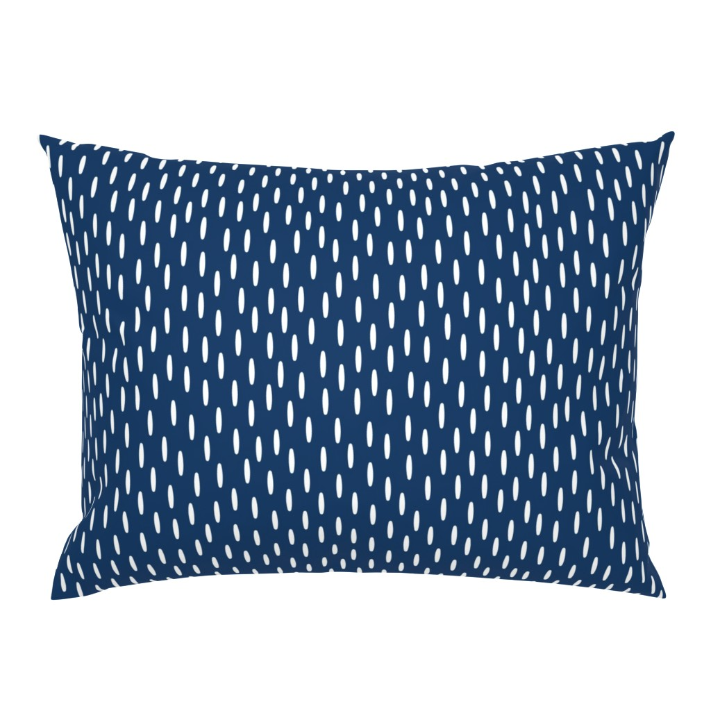 Campine Pillow Sham featuring Navy Speckle // Seagull Surprise Coordinate by nanshizzle