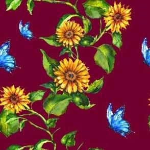 Sunflower Burgundy