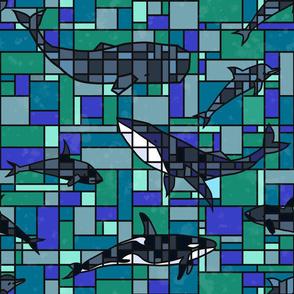 Colorblock Marine Life