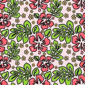 Safari Bright Blooming Flowers Pink