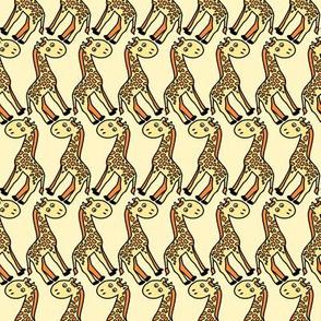 Safari Happy Giraffe Pattern