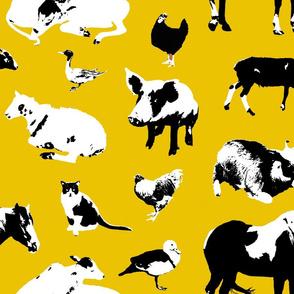 Farm Animals (Yellow)