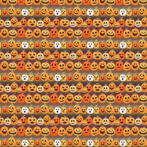 orange jack o'lanterns halloween pumpkins stripe purple green