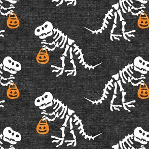 "(3"" scale) Trick or Treating Skeleton Trex - grey - halloween - LAD19BS"