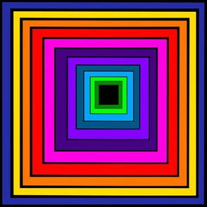 Color Block Challenge Rainbow Squares