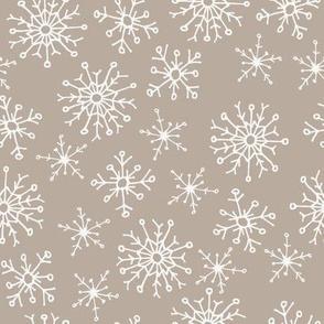 vintage snowflake on dirt