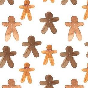 gingerbread cookies on milk