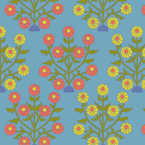 sun_flower_blue_coral
