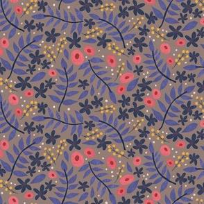 Pretty in Purple Ditsy Floral