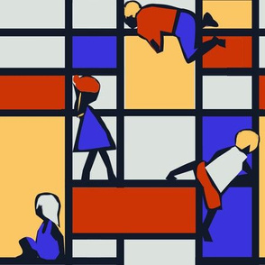 Children's Jungle Gym Mondrian style