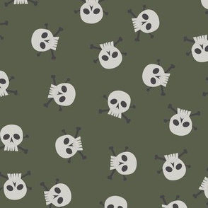 Skulls on Green