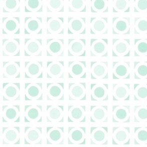 Mid Century Modern Circles aqua