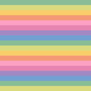 brooksher rainbow 8 stripes 1 inch horizontal