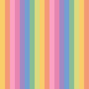 brooksher rainbow 8 stripes 1 inch vertical