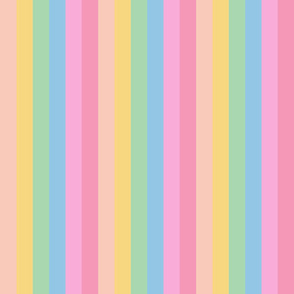brooksher rainbow 6 stripes 1 inch vertical