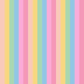 brooksher rainbow 6 stripes 1 inch vertical