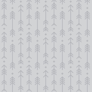 cross + arrows light grey tone on tone