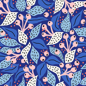 papercut collage blue
