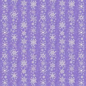 snowflake stripes - swirls on violet wisteria purple