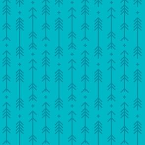 cross + arrows surfer blue tone on tone