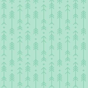 cross + arrows mint green tone on tone
