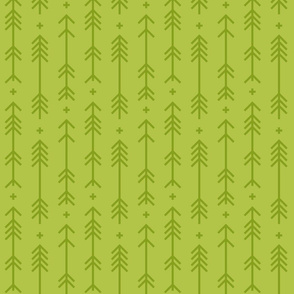 cross + arrows lime green tone on tone