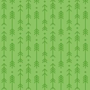 cross + arrows apple green tone on tone