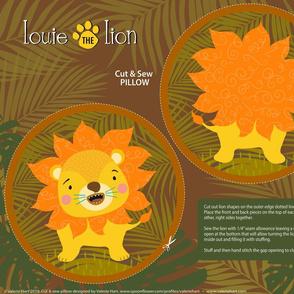 Louie the Lion Cut & Sew Safari Plushie Pillow