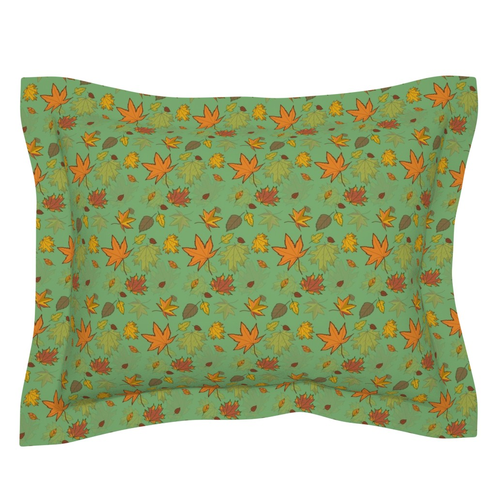 Sebright Pillow Sham featuring Autumn Falling by sandravincent