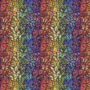 fantasy butterflies aflutter rainbow