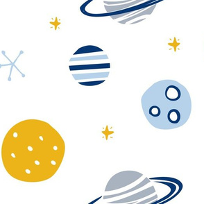 Space planets moon galaxy