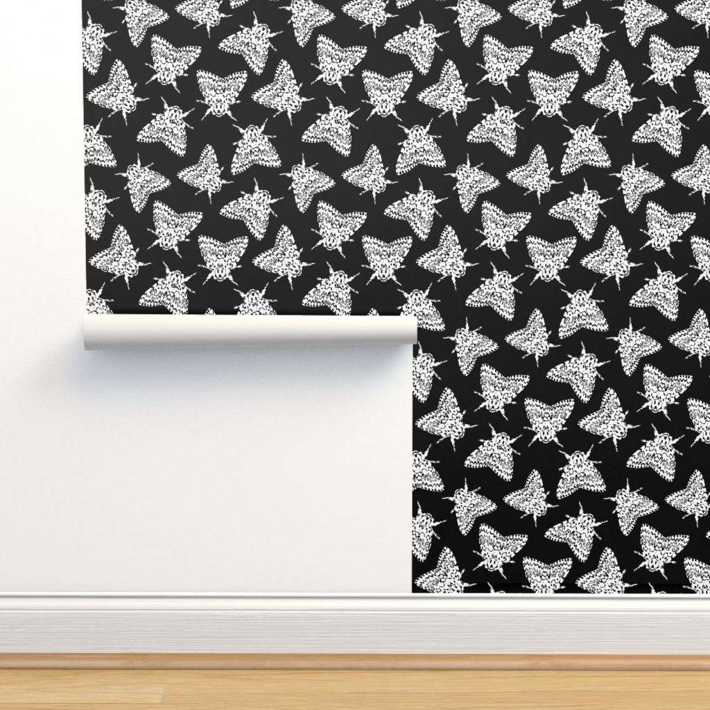 Isobar Durable Wallpaper featuring Black arches moths by daria_wallace