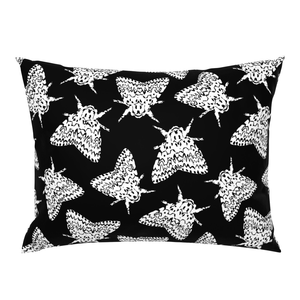 Campine Pillow Sham featuring Black arches moths by daria_wallace