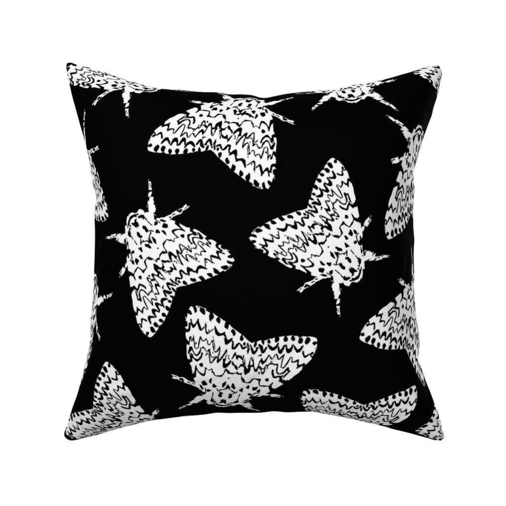 Catalan Throw Pillow featuring Black arches moths by daria_wallace